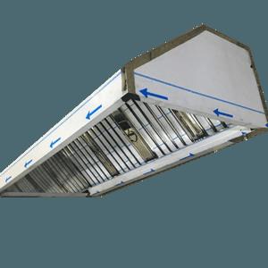 Hota perete 1500×900 mm inaltime 300 mm cu filtre tabla inox luciu 1 mm